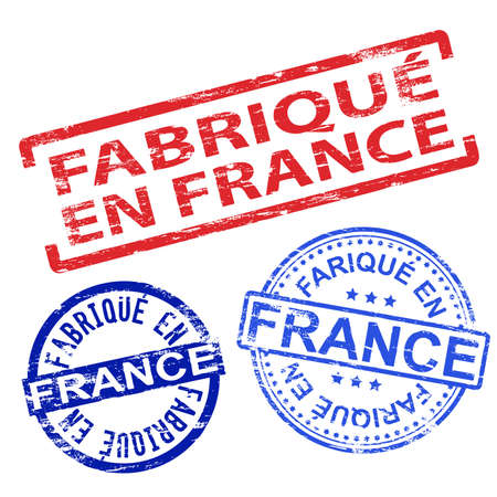 tatty: Fabrique en France. Rubber stamp vector illustrations