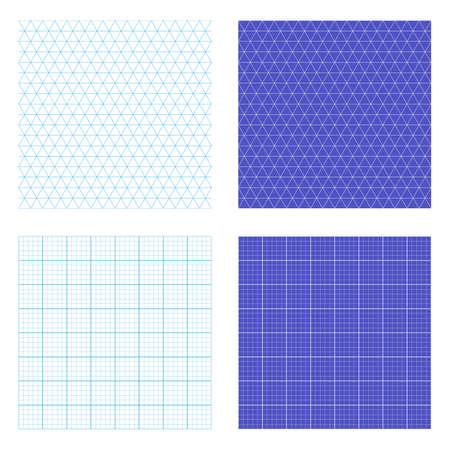graph paper background: Square and isometric repeating graph paper vectors. Tileable vector wallpaper that repeats left, right, up and down