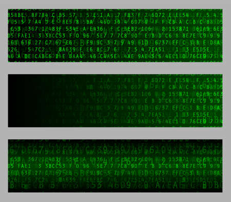 hexadecimal: Hexadecimal computer data web banner vector backgrounds Illustration