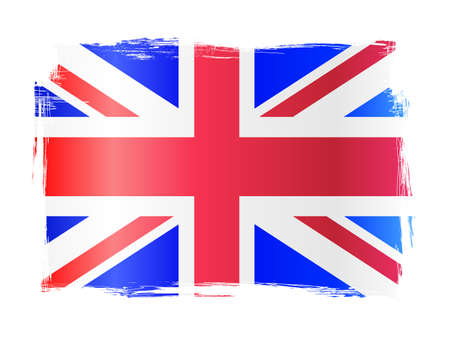 bandera de gran bretaña: Bandera apenada sucia del Reino Unido, Reino Unido de Gran Bretaña Vectores