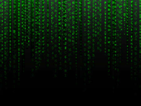 alphanumeric: Fading green letters and numbers alphanumeric data background