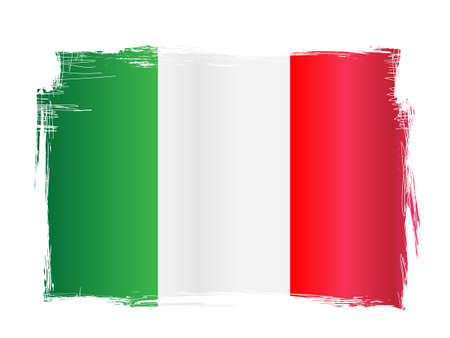 Grungy and distressed Italian flag vector illustration 矢量图像