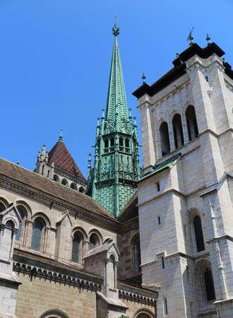 pierre: Tower of St Pierre Cathedral in Geneva, Switzerland