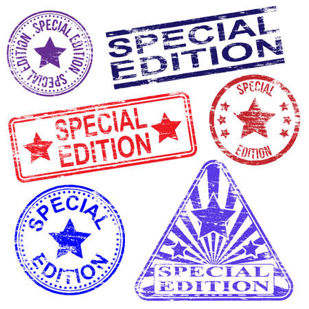 special edition: Special edition vector grungy rubber stamp illustrations