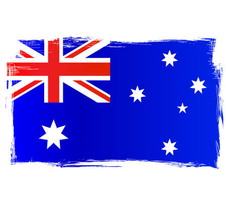 tatty: Australian Flag. Grungy distressed flag of Australia