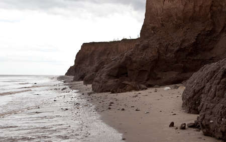 coastal erosion: Coastal erosion in Yorkshire, on the East coast of England