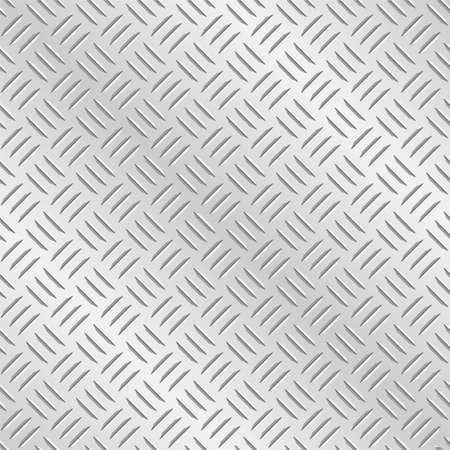 tread plate: Metal diamond chequer plate. Tileable vector wallpaper background that repeats left, right, up and down Illustration