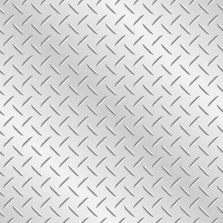 メタル ダイヤモンド チェカー プレート。残された、タイルのベクトル壁紙背景右、上下
