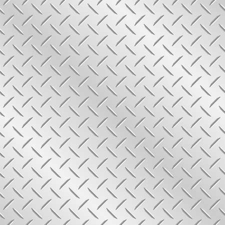 Metal diamond chequer plate. Tileable vector wallpaper background that repeats left, right, up and down Stock Illustratie