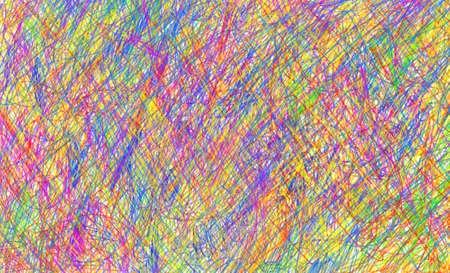 scribbles: Colorful and bright pen scribbles background illustration