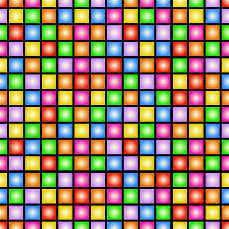 Enrrollado colorido del papel pintado del vector del estilo 80s alicatable que se repite a izquierda, derecha, arriba y abajo Ilustración de vector