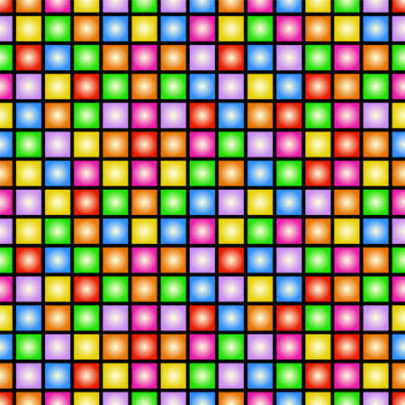 left right: Funky colorful tileable 80s style vector wallpaper that repeats left, right, up and down