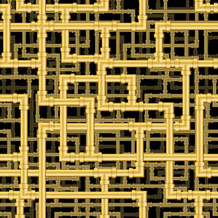 wallpaper  eps 10: Repeating pipework steam punk maze. Tileable vector wallpaper that repeats left, right, up and down