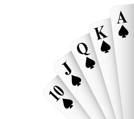 royal flush: Spades suit royal flush poker hand