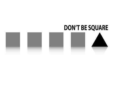 spoil: Dont be square fun concept squares and triangle
