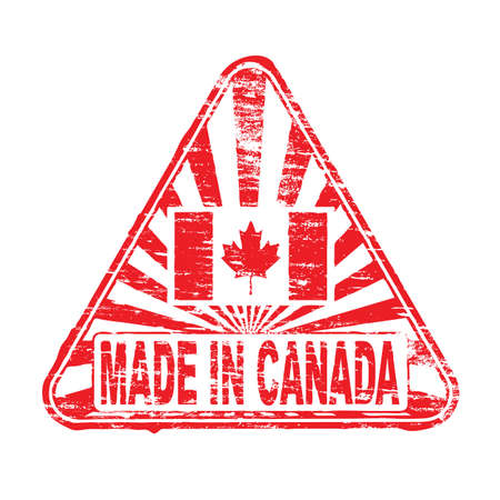 canada stamp: Made in Canada. Rubber stamp vector illustration
