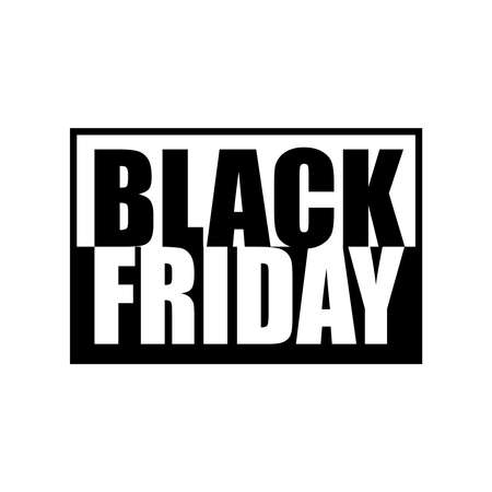weekday: Black Friday black and white vector illustration