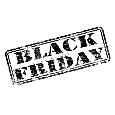 Black Friday grungy rubber stamp symbol vector illustration