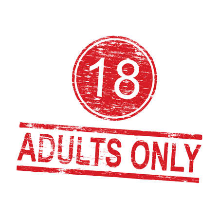 x rated: Adults only grungy rubber stamp vector illustration Illustration