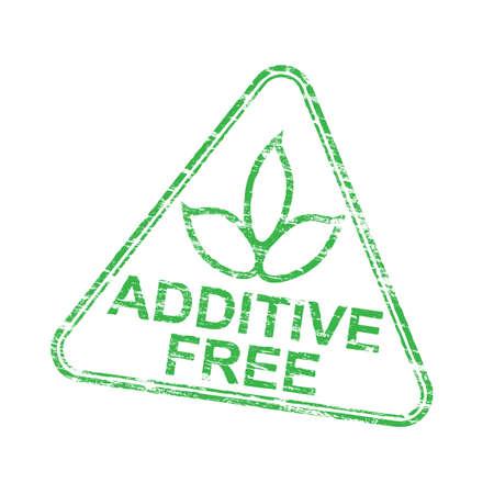 Additief gratis driehoekige grungy rubber stempel vectorillustratie