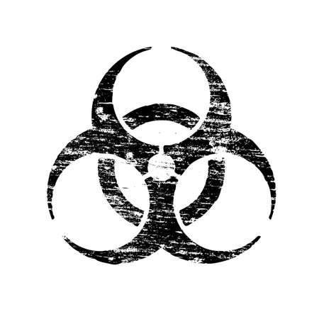 Biohazard symbol grungy rubber stamp vector illustration