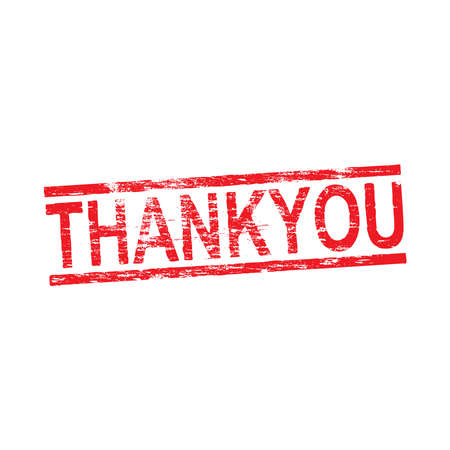 Thank you grungy distressed rubber stamp vector illustration
