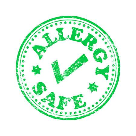 Allergie veilige ronde rubberzegel vector illustratie Vector Illustratie