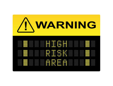 venomous: Warning high risk area industrial LED sign
