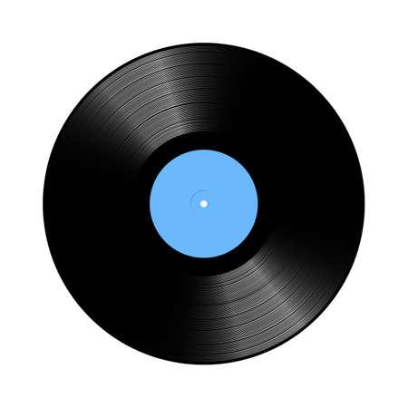 lp: Vintage Vinyl LP record vector Illustration on white background
