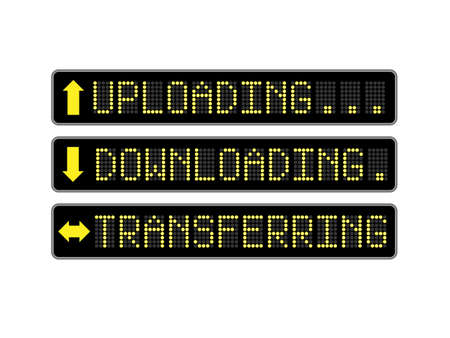 torrent: Uploading, downloading and transferring LCD display signs