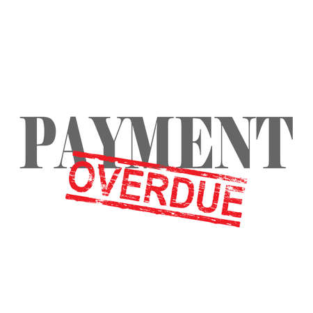 consolidation: Payment word with overdue stamped across it Illustration