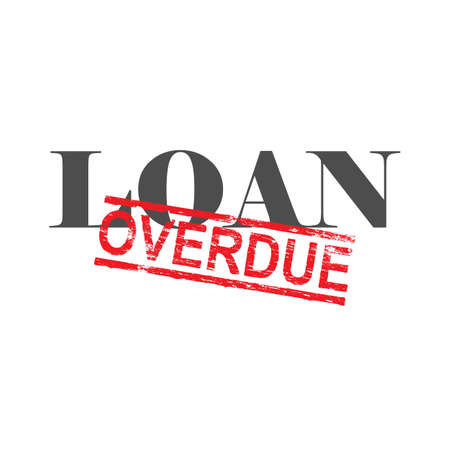 consolidation: Loan word with overdue stamped across it