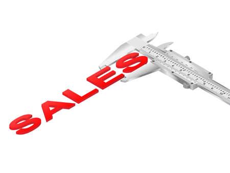 Vernier caliper measuring sales word Illustration