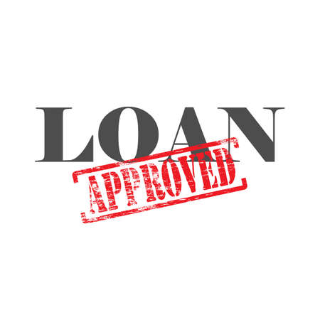 consolidation: Loan word with approved stamped across it Illustration