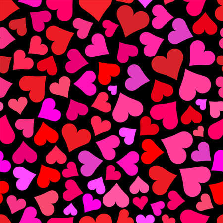 love wallpaper: Love hearts on black background tileable wallpaper that repeats left, right, up and down