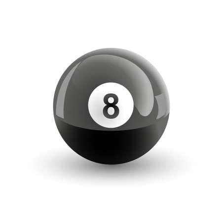 pool ball: Number eight pool ball isolated illustration Illustration