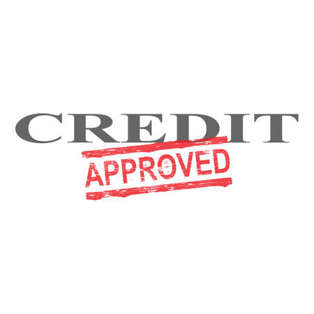 consolidation: Credit word with approved stamped across it Illustration