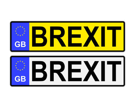 numberplate: GB number plates with Brexit text