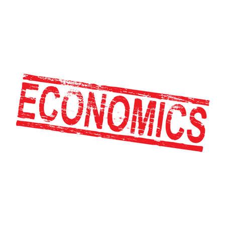 Economics grungy rubber stamp symbol