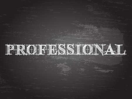 Professional text hand drawn on blackboard background 矢量图片