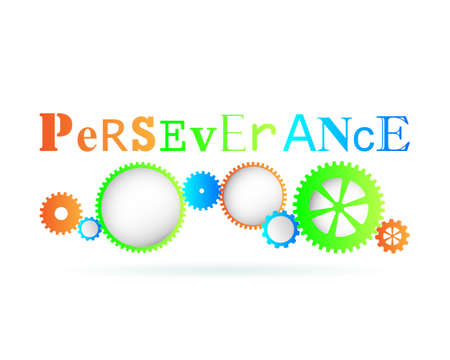 Perseverance word above modern gear wheels