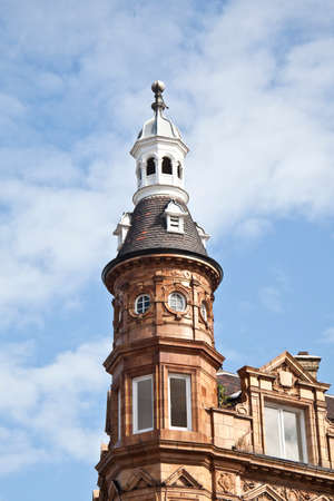 킹스톤 어시스턴트 건물에 지붕 cupola 아키텍처 세부 사항 스톡 콘텐츠