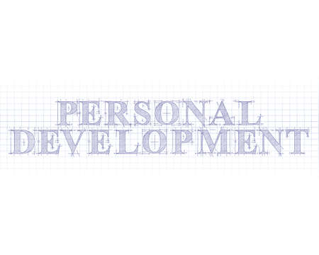 Personal development text hand drawn on blueprint background royalty 86484697 personal development word in technical drawing on graph paper malvernweather Choice Image
