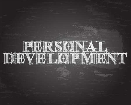 potential: Personal development text hand drawn on blackboard