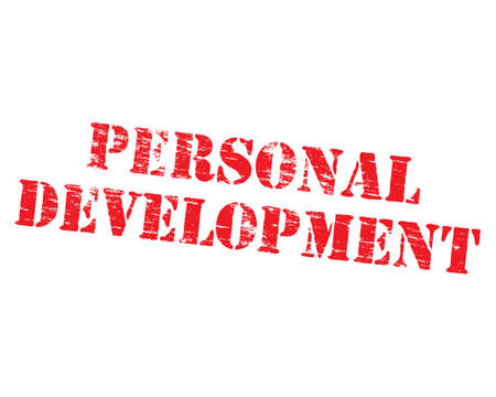 potential: Personal development grungy stencilled word symbol
