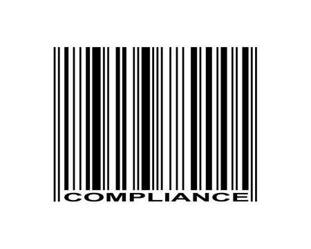 Compliance word and barcode icon
