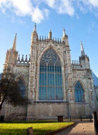 East side of York Minster, in York, United Kingdom 스톡 콘텐츠