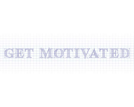 Get motivated word in technical drawing on graph paper