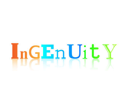 Ingenuity graphic word art with reflection