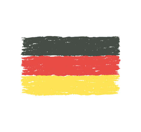 Grungy hand drawn flag of Germany